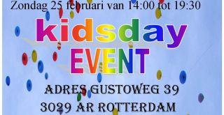 Kidsplay event op zondag 25 februari